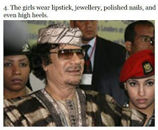 muammar algaddafi female bodyguards 04 Foto foto 40 Perawan Pengawal Pribadi Muammar Qadhafi