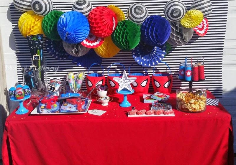 Disney Marvel Easter Egg Hunt party table