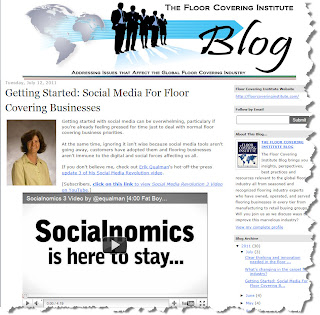 Getting Started With Social Media: Floor Covering Institute Blog by Christine B. Whittemore