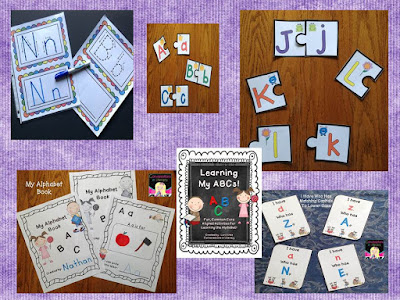 ABC & Name Activities to teach letters of the alphabet