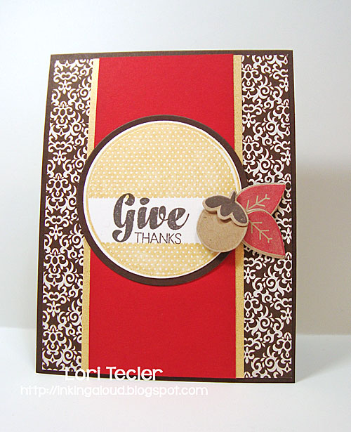 Give Thanks card-designed by Lori Tecler/Inking Aloud-stamps from Waffle Flower