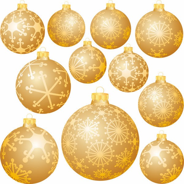 Bolas navide as doradas vector vector clipart - Bolas de navidad doradas ...