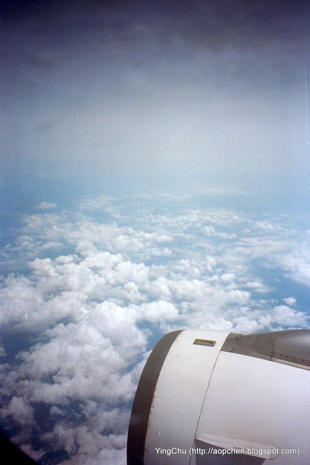 從機上往外拍雲朵