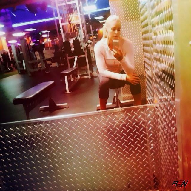 Maryse Hits the Gym.