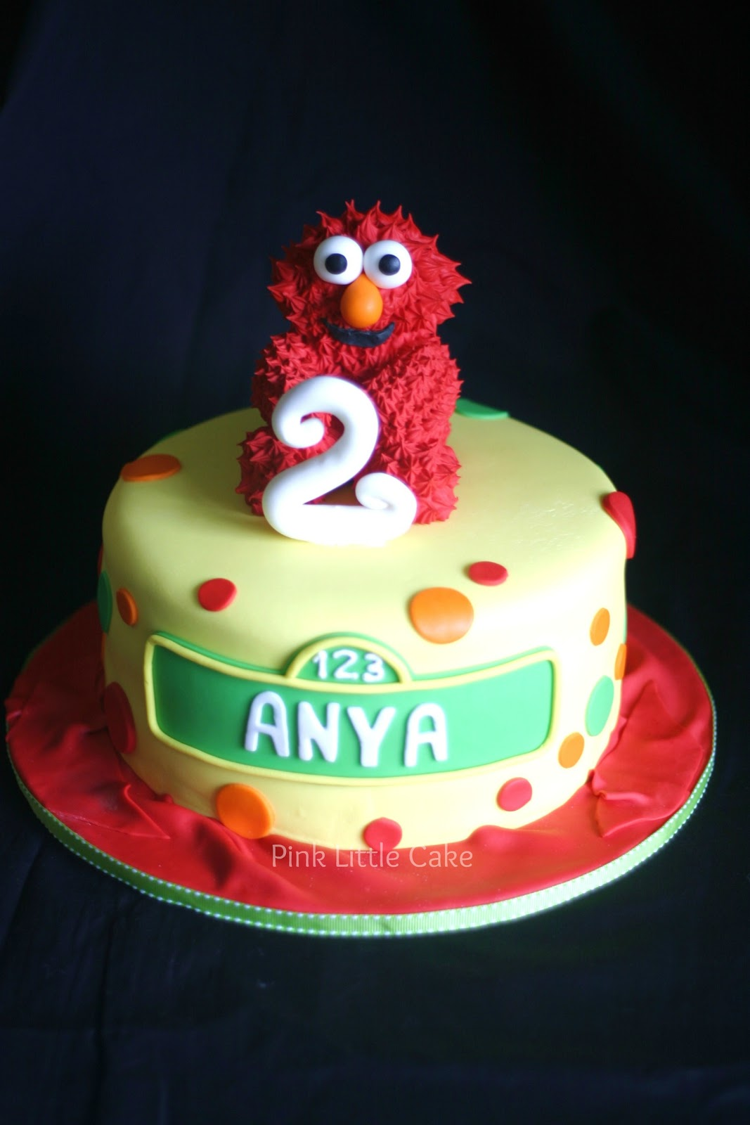 Pink Little Cake Small Elmo Cake