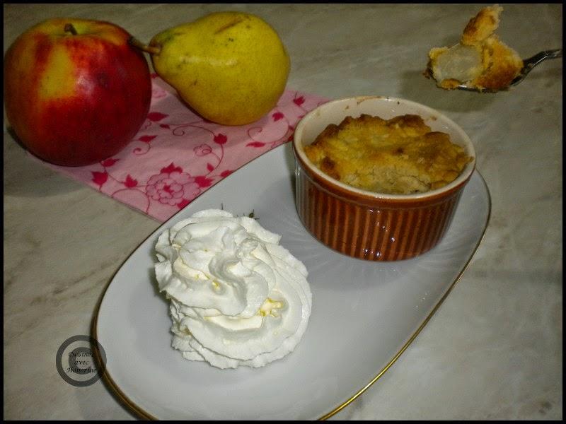Le crumble pomme-poire