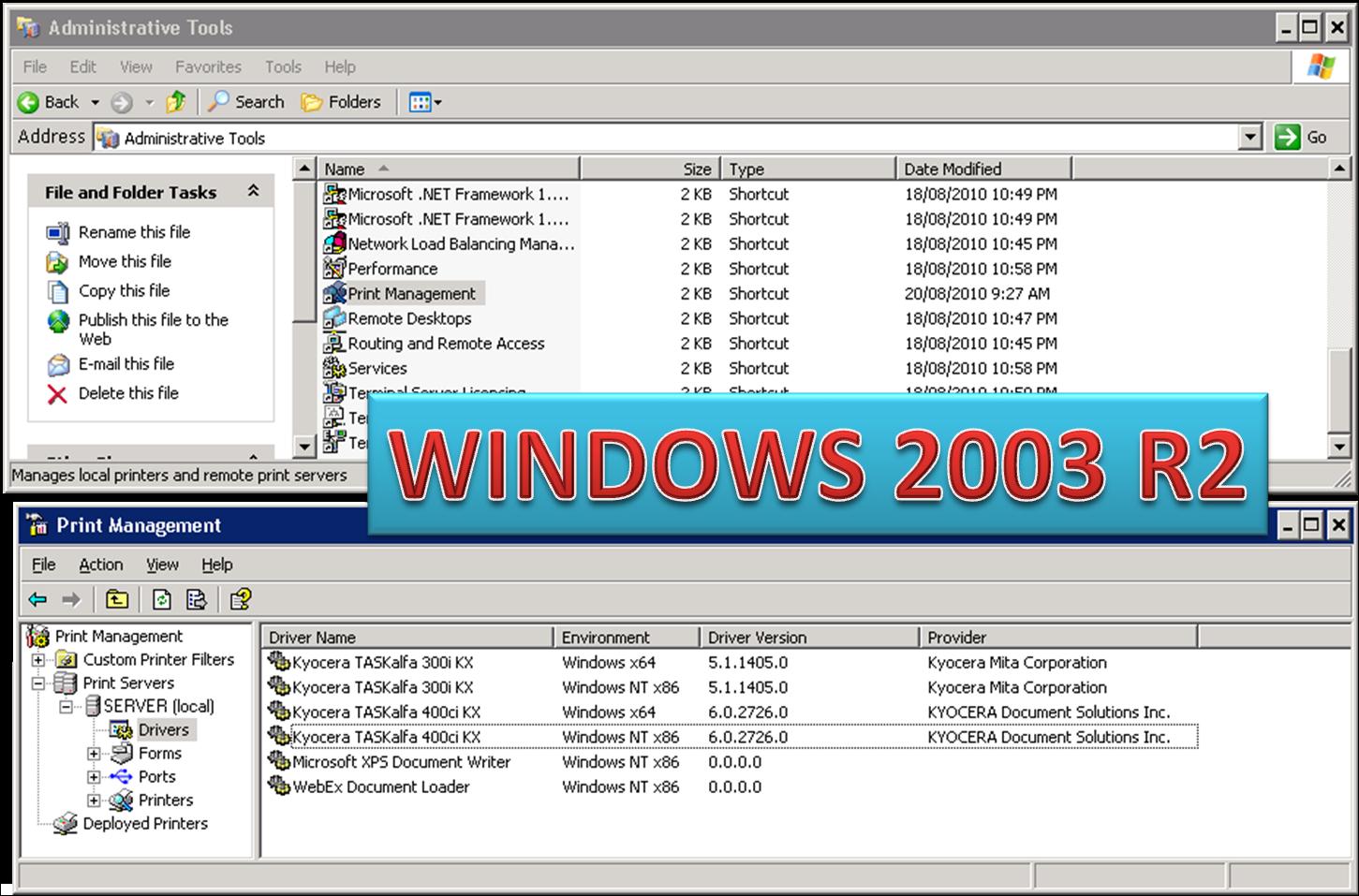 Драйвера для windows server 2003 скачать