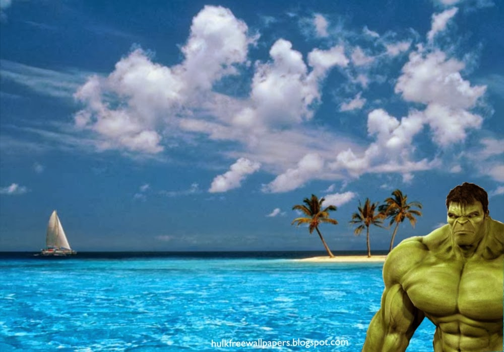 The Incredible Hulk Desktop Wallpaper Hulk watching you at the corner at Blue Island Desktop wallpaper