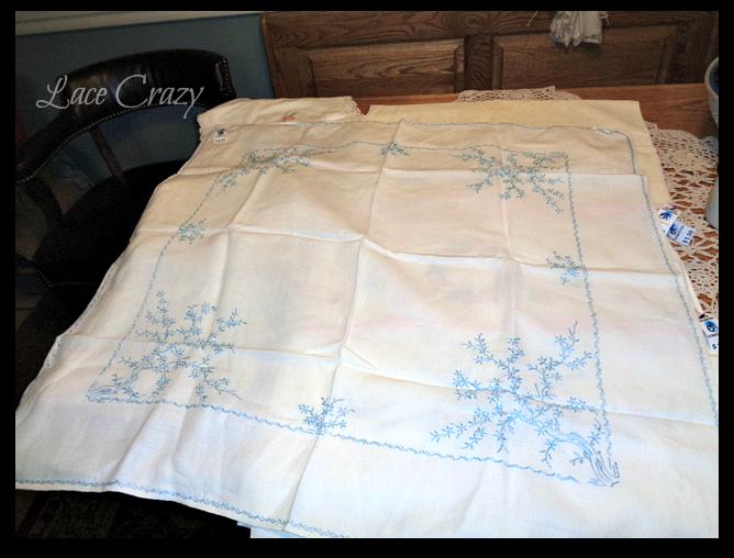 lace crazy  turn your vintage linens into linen pillows