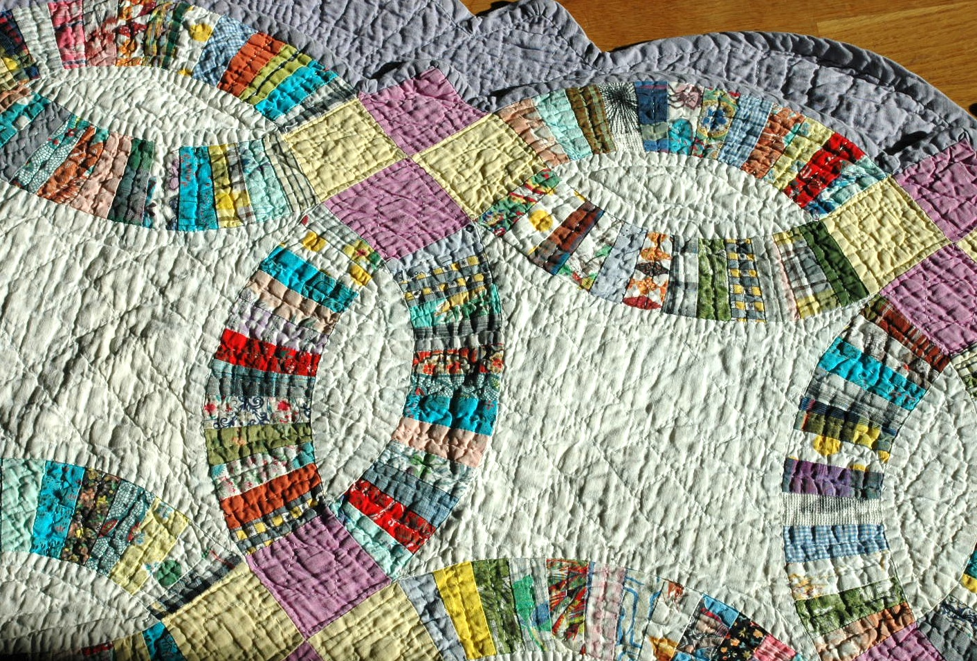 Sentimental Baby Vintage 1930s Double Wedding Ring Quilt