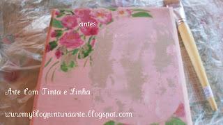 Pintura de rosas em MDF