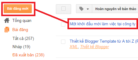 Thêm và xóa nhãn Blogger / Blogspot, them va xoa nhan