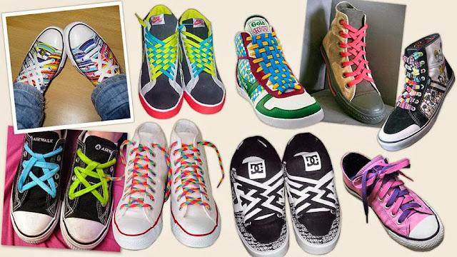 14 Cara Unik & Kreatif Mengikat Tali Sepatu