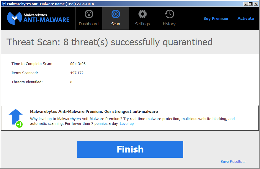 Malwarebytes threats in quarantine