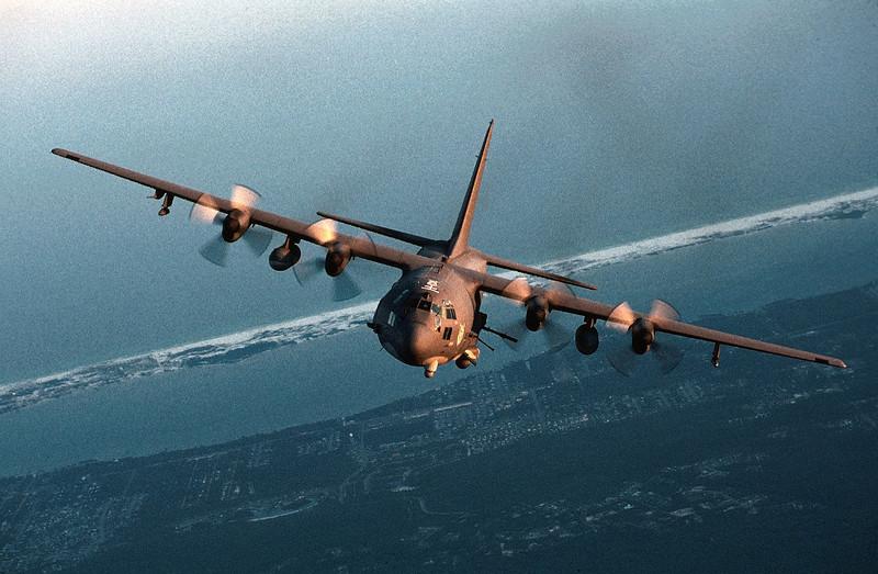 AC-130 Gunship Heavily Armed Aircraft
