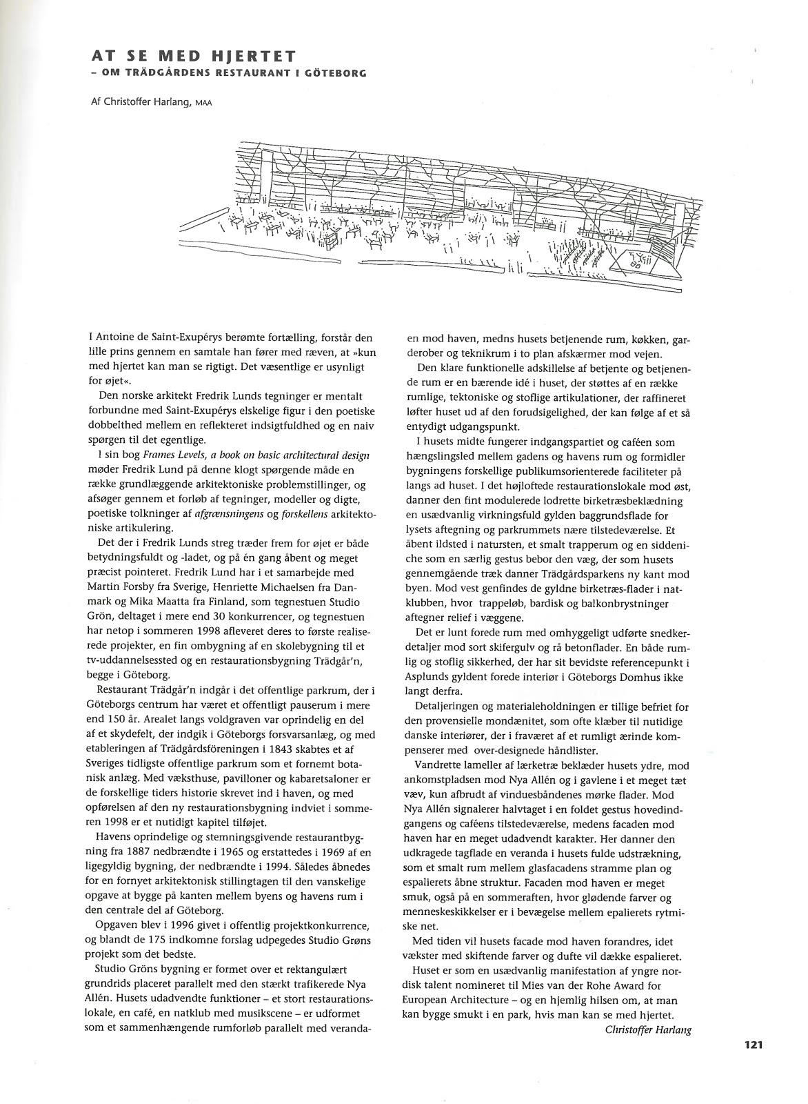 studio fredrik lund : eye heart - arkitektur DK 2 1999 denmark
