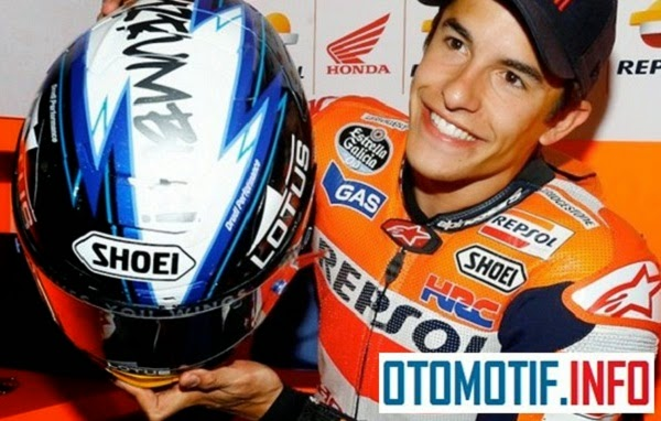MotoGP juga mendorong produsen helm Shoei, untuk mengadakan kontes design grafis helm