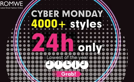 Romwe cyber monday sale