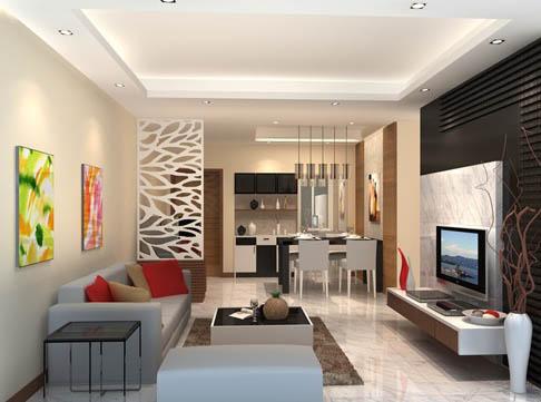 50 desain sekat ruanganan minimalis (sekat ruangan tamu