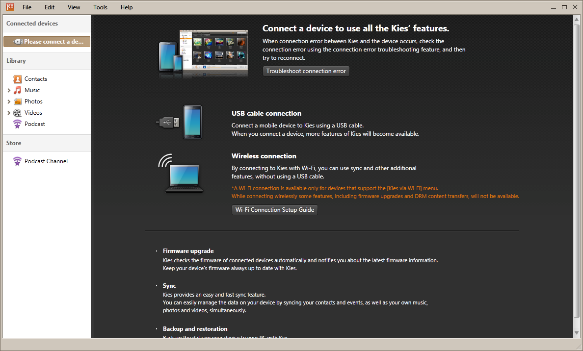 Download and install Samsung Kies if you have not already done so
