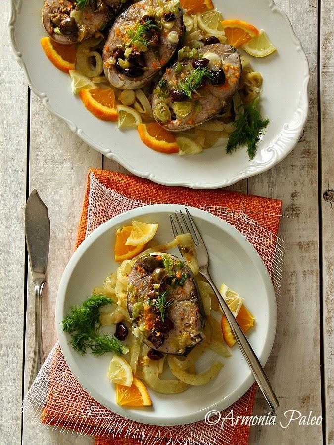 Palamita con Olive e Finocchi in Salsa di Agrumi di Armonia Paleo