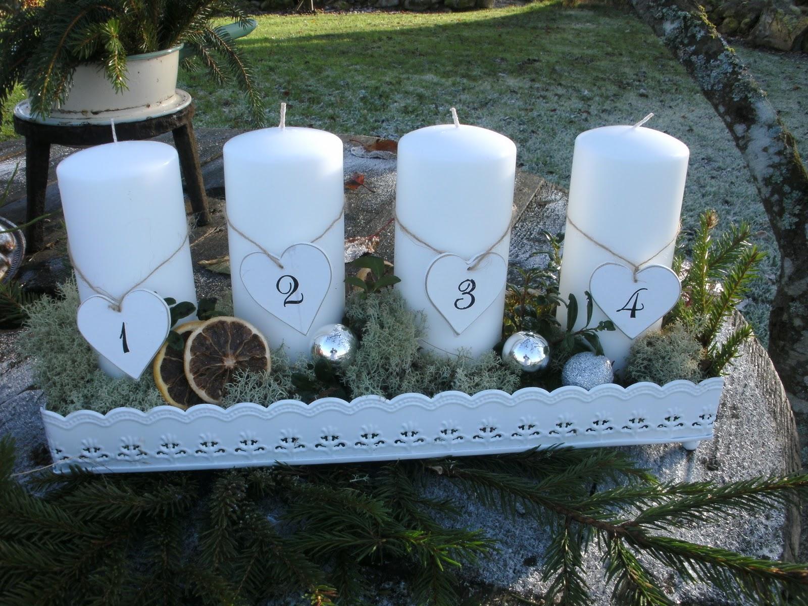 dekoration till adventsljusstake