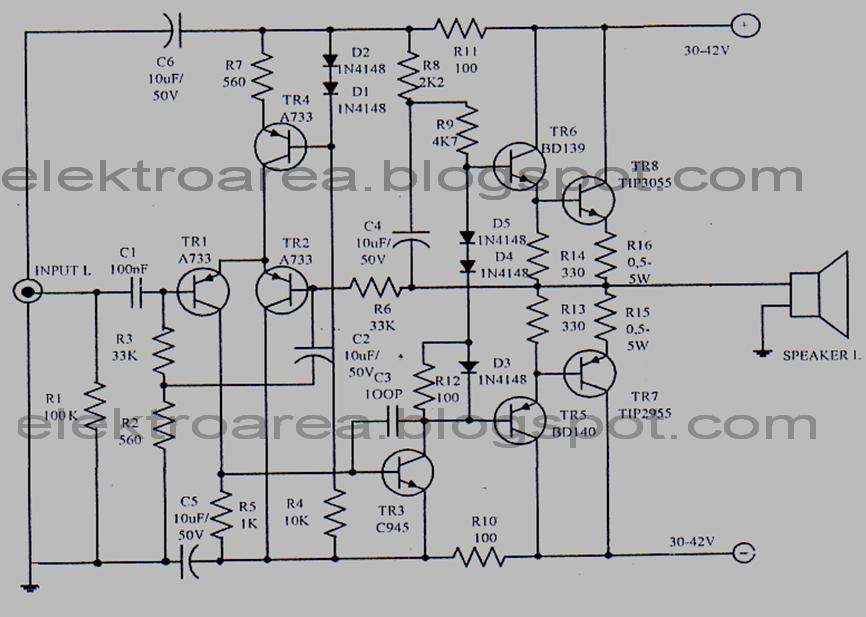 power amplifier ocl 150 watt