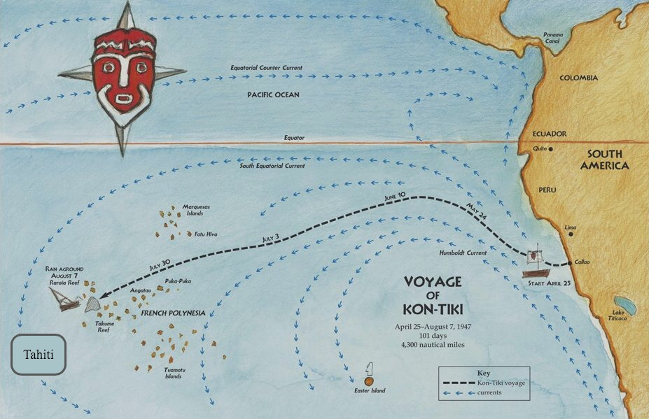 Randomly Reading: The Impossible Voyage of Kon-Tiki ... Pacific Ocean Waves