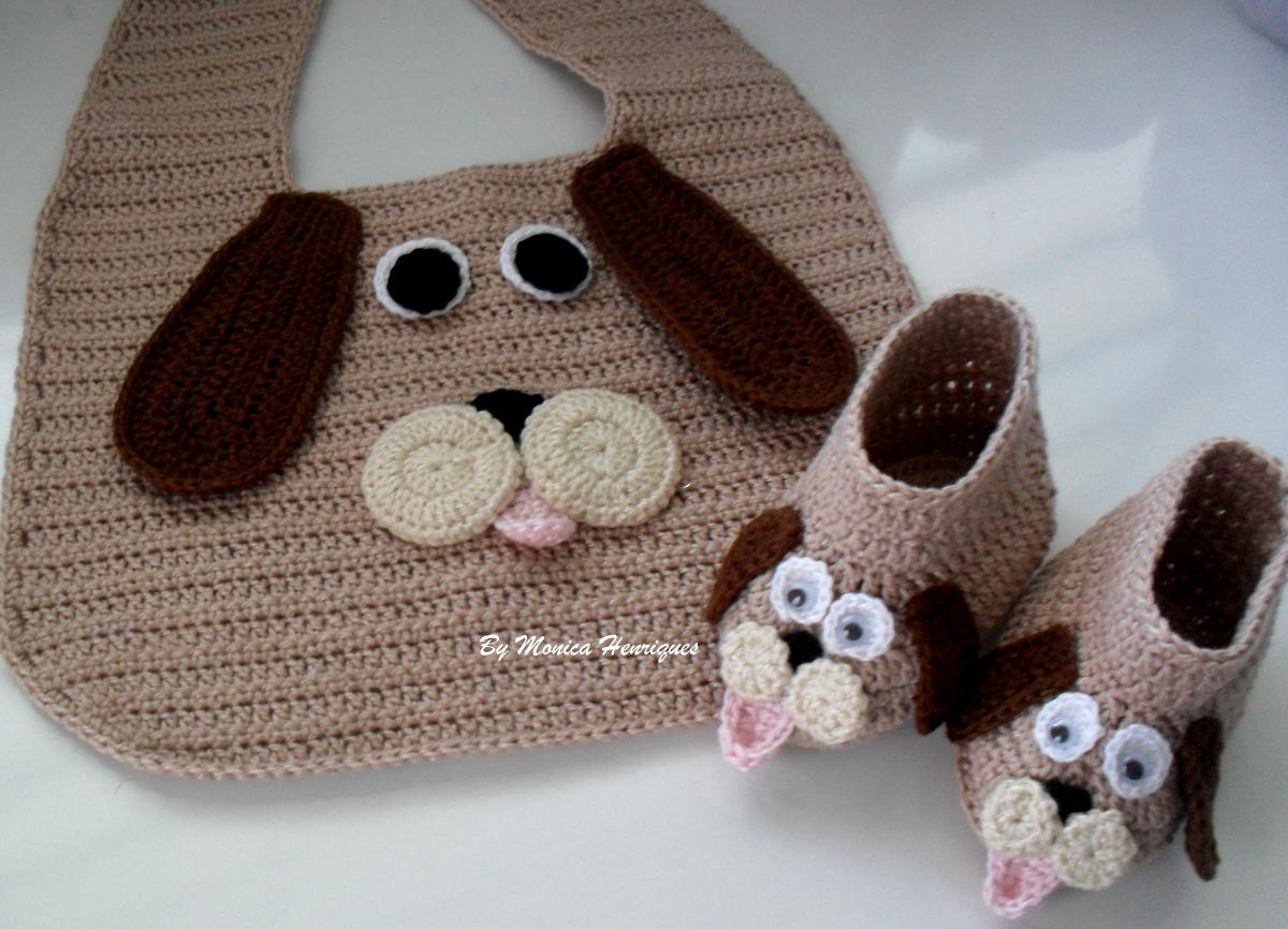 Bolsa Para Carregar Cachorro Em Croche : Ateli? monica henriques babador e sapatinho em croch?