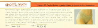 Info & Harga Twin Tulip Lingerie 2014 : Shorts Panty - Romance Chezreine