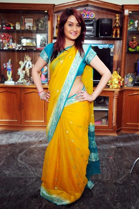 Sonia Agarwal New Saree Photos Stills