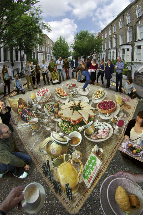 26-The-Big-Lunch-Kurt-Wenner-3D-Street-Pavement-Art-Painting-www-designstack-co
