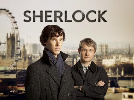 Poster Of English TV  Series Sherlock (2012) Free Download Full New English TV  Series Watch Online At worldfree4u.com