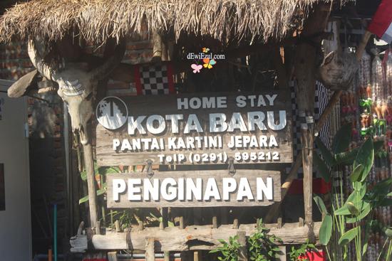 Penginapan depan Pantai Kartini