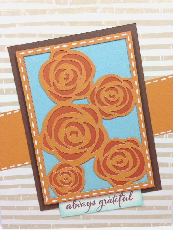 Close To My Heart Artfully Sent Cricut Cartridge Always Grateful card closeup