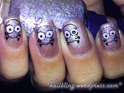 Cute Damian Hirst Skull Nails With Flash