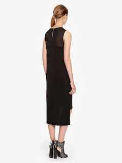 arkası transparan siyah elbise