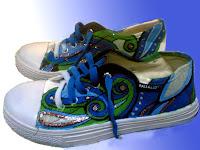 Sepatu Lukis joe 208 Cowok Rp 125 000,spatu lukis ornamen,sepatu lukis