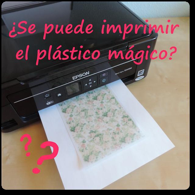 ¿Se puede imprimir el plástico mágico?