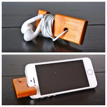 iPhone için doğal stand ve kulaklık