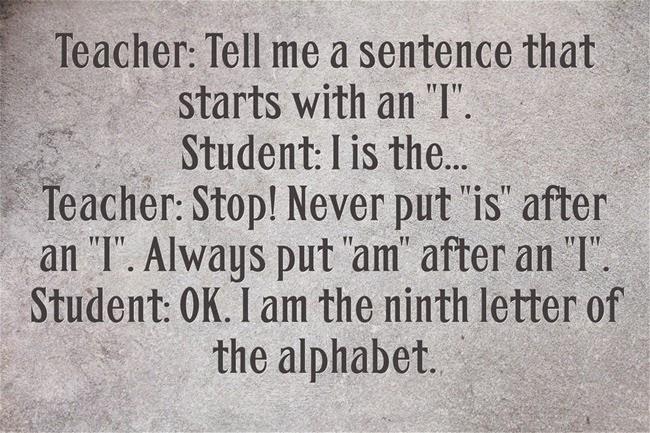 Chuyện cười tiếng Anh: Cô giáo và học sinh