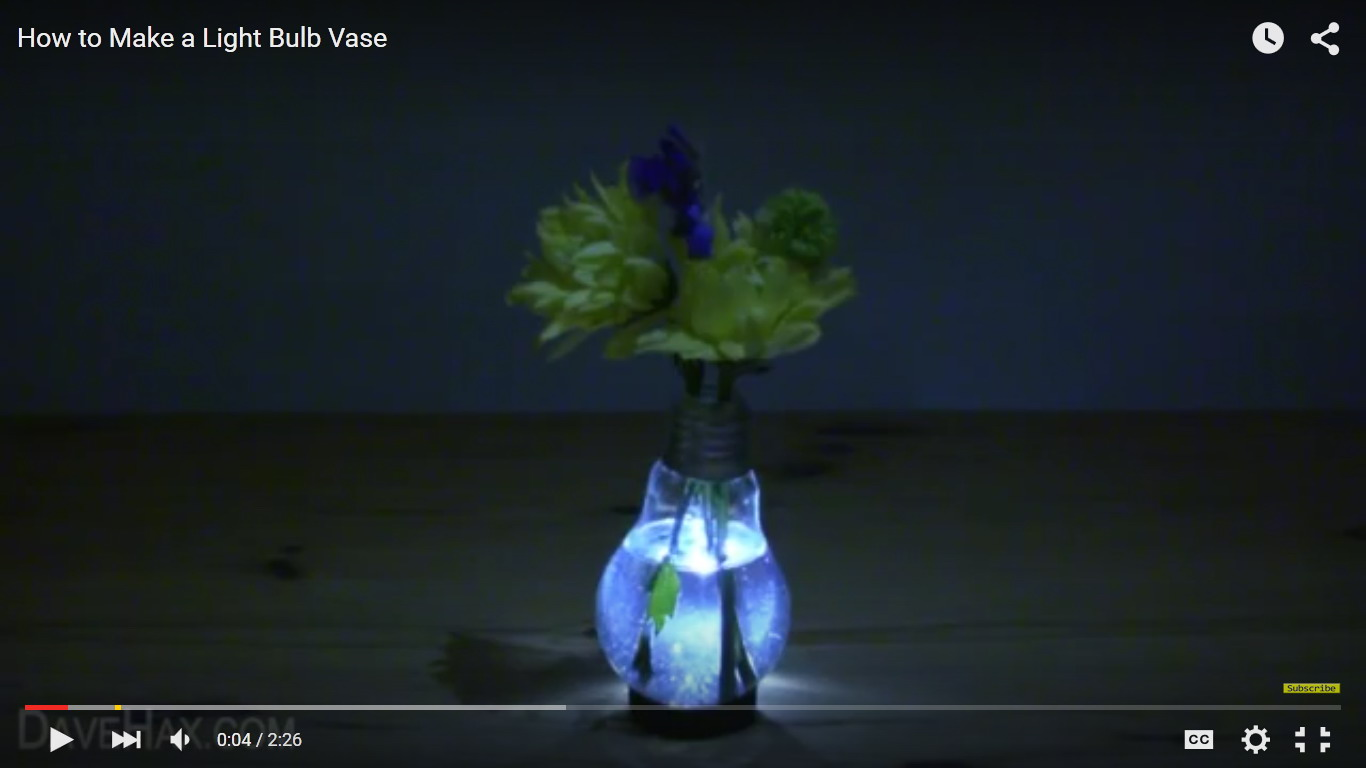 Cool Light Bulbs how to make a really cool light bulb vase | impossible tricks