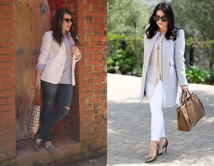 karen-walker-sunglasses-pastel-outfit-ideas-loft-white-denim-ily-couture-tassel-necklace-king-and-kind-blog-san-diego-coffee-beans-and-bobby-pins-white-blazer-spring-outfit-ideas