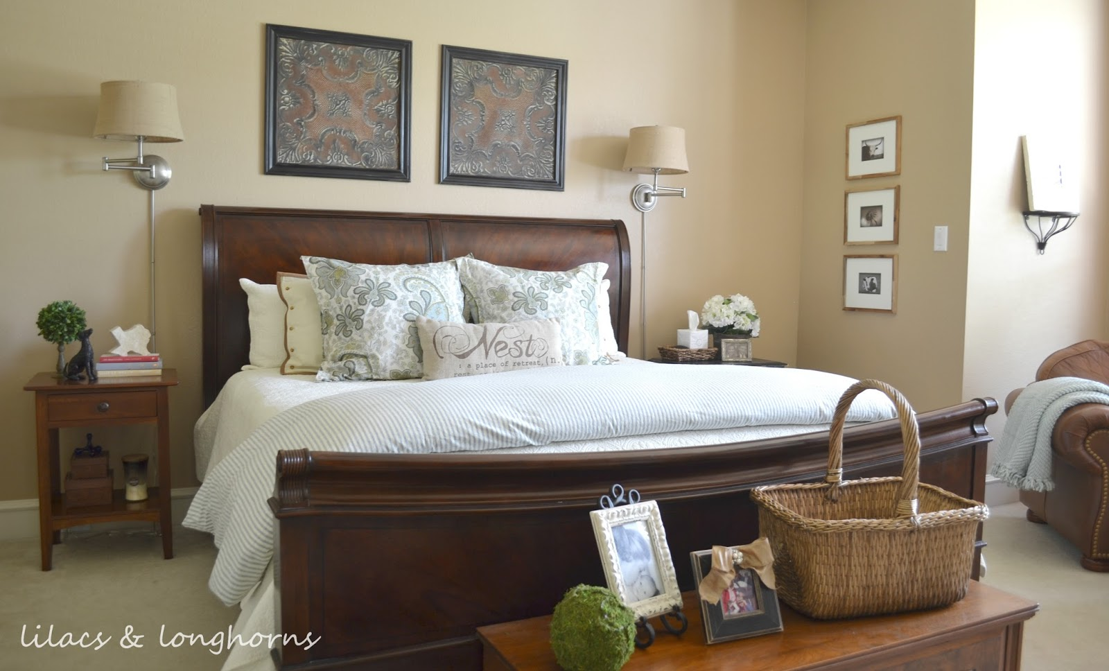Blue And Tan Master Bedroom master bedroom archives - lilacs and longhornslilacs and longhorns