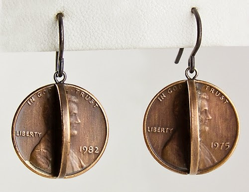 08-Earrings-Abe-Conjoined-Coin-Pennies-&-Dimes-Sculptures-&-Accessories-Jewellery-Stacey-Lee-Webber-www-designstack-co