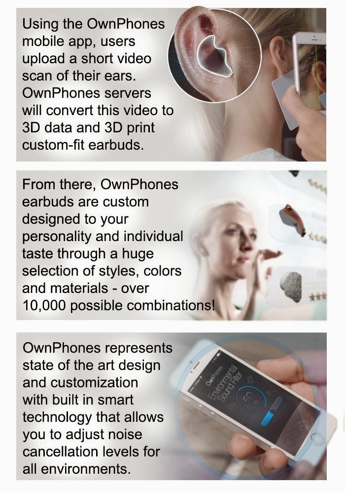 thiết kế tai nghe ownphones