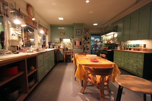 Typical American kitchen and dining hall layout at National Museum of American History in Washington DC, USA