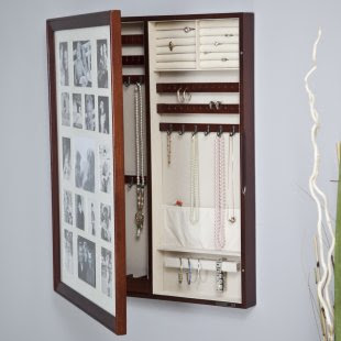 Cool and Beautiful Wall Photo Frame in Wooden Jewelry Armoire 4