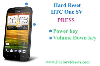 Hard Reset HTC One SV