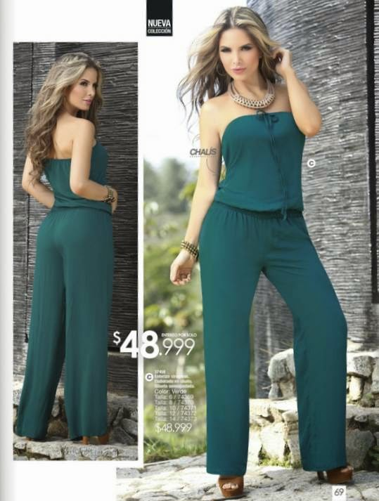 Enterizo strapless color verde por 48.999